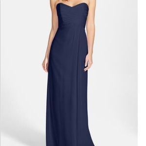 Amsale strapless gown